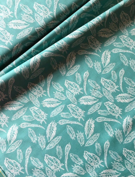 ArtGallery Fabrics Petal and Plume by Bari J. in Panacea Fresco  Feathers BTY (by the yard)