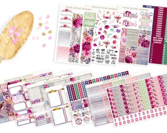 Fall in Love Full Collection   Planner Stickers designed for use with the Erin Condren Life Planner