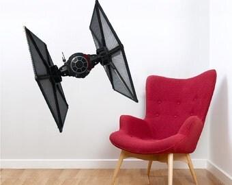 The Force Awakens Tie Fighter, Star Wars Tie Fighter Decal, First Order Tie Wall Murals, Star Wars Episode VII Spaceship, First Order, b32