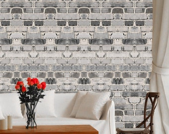 Wallpaper, Brick Wall Paper, Removable Living Room Wall Decal, Brick Wall  Design, Part 82