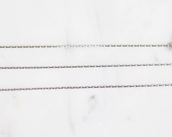 B5-37-R] Rhodium plated / 0.7mm / Snake Chain / 1 meter