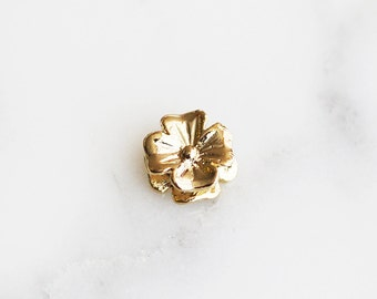 40% off ENTIRE STORE // T6-164-G] Flower / 7mm / Gold plated / Metal Beads / 2 piece(s)