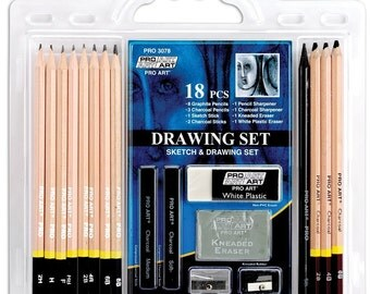 Pro Art 18 Piece Sketch/Drawing Pencil Set