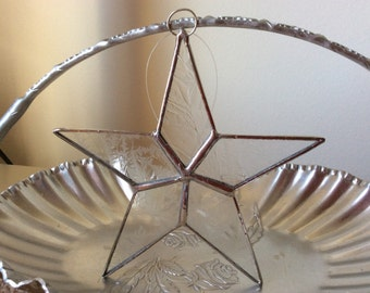 Stained Glass Star Ornament Sun Catcher