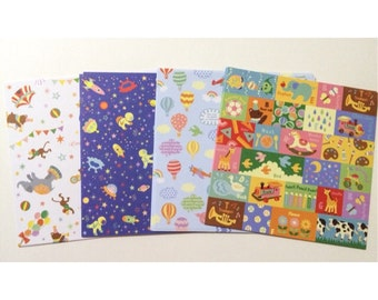 48 Sheets Decorative Paper - Toy Theme