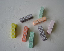 polka dotted clothespins/ cute clothespins/ hangers