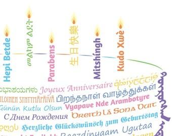 Happy Birthday Card Template PDFs - Design 2 - DIY Printable Customizable