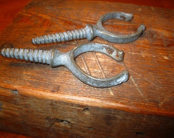 Antique Oar Locks / Screw In Oar Locks / Nautical Decor