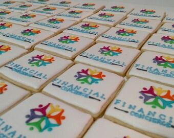 Custom hand decorated Logo Cookies for Businesses/ Schools/ Organizations/ Monograms