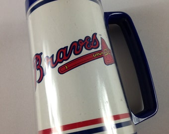 Atlanta Braves Mug Bud Light Beer USA Made Cup MLB Baseball 90s Collectible