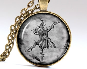 Clown Necklace Circus Jewelry Gift Idea Pendant Pendants Necklaces Jewellery LG819