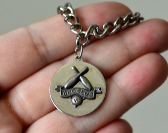 Vintage, Bowling 600 Club,Chain with charms,Bowling Charms
