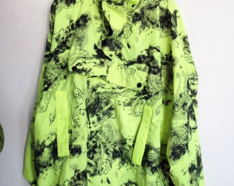 neon green windbreaker