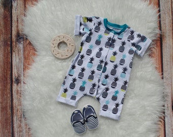 Summer Romper//Baby boy//pineapple//coming home outfit
