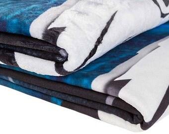 Personalize Custom Photo Blanket/ Throw Velveteen or Fleece