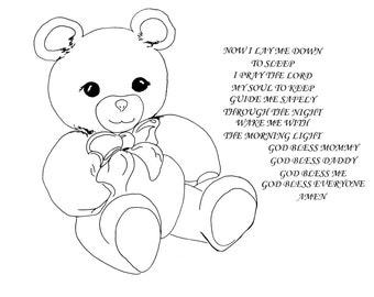 Now I Lay Me Down to Sleep~Teddy Bear