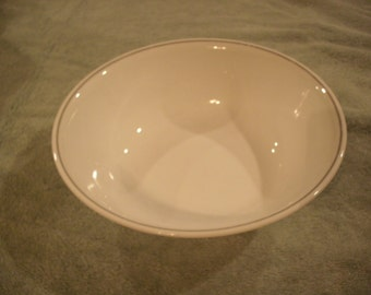 Corelle Serving Bowl With Gray Trim