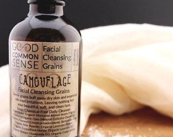 Facial Cleansing Grains, Sensitive Skin, Skin Calming, Facial Mask, Exfoliating Facial Cleanser, Eczema/Psoriasis calming