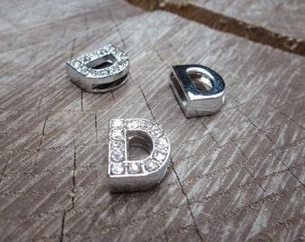 Letter D Slot Charms ~1 pieces #100619