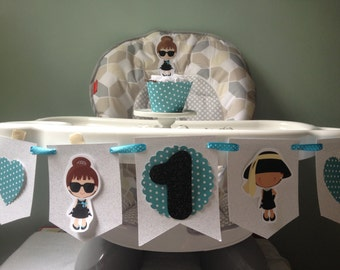 Breakfast at Tiffany's 1st or 2nd Birthday Party Highchair Banner