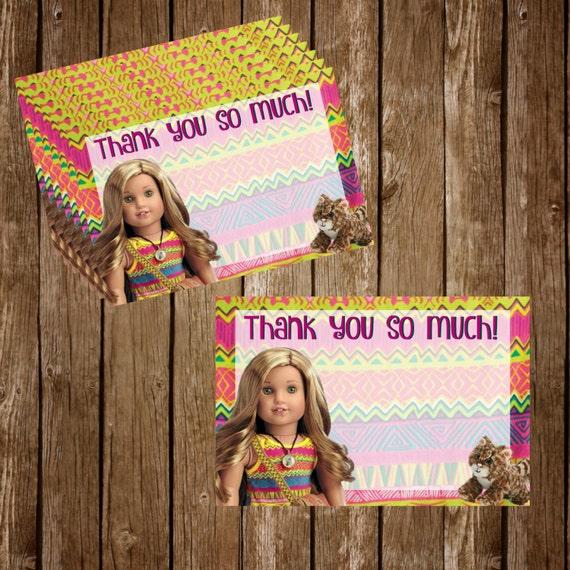 Lea Clark American Girl Doll Printable Thank You Cards