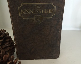 Vintage Book 1931 The Business Guide 1931
