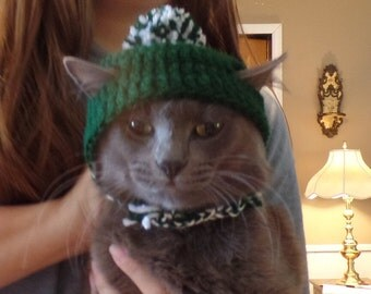 Easy Crochet Adult cat hat Beanie pattern DIGITAL DOWNLOAD ONLY