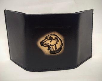 Dachshund Dog Breed Bifold or Trifold Leather Wallet