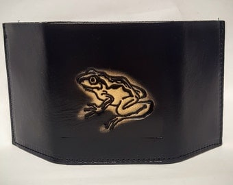 Frog Bifold or Trifold Leather Wallet