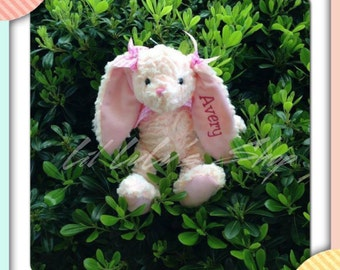 Monogram Easter Bunny, Personalized Bunny, Monogram Easter Bunny Gift, Monogrammed Rabbit