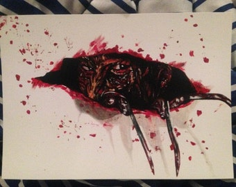 Freddy Krueger Nightmare On Elm Street Horror Print