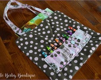 Polka Dot, Flower, Coloring Book, Crayon Bag
