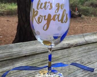 Let's Go, Royals Wine Glasses!!