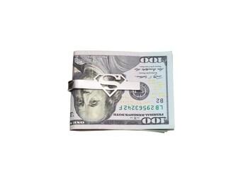 superman  money clip, tie clip,stainless steel