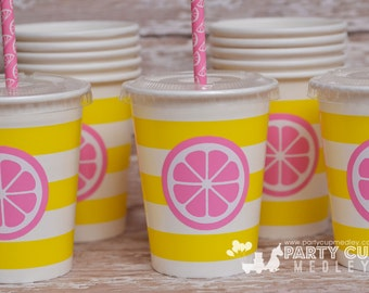 Pink Lemonade Birthday Party Supplies-Lemonade Stand Party Cups