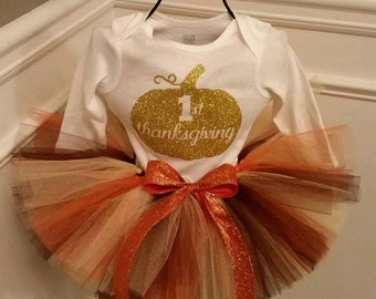 First Thanksgiving Outfit, Thanksgiving Tutu, Thanksgiving Outfit, 1st Thanksgiving