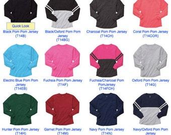 Monogrammed Boxercraft, spirit shirt, pom pom jersey
