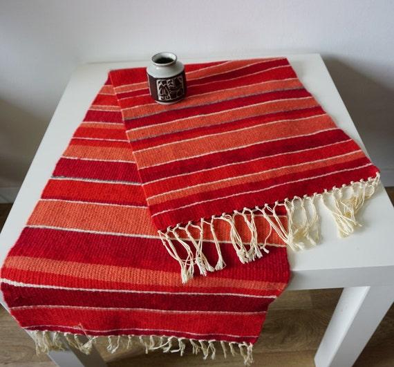 Rag Rug Large: Large Swedish Wool Tapestry Wool Rag Rug Wool Wall Hanging