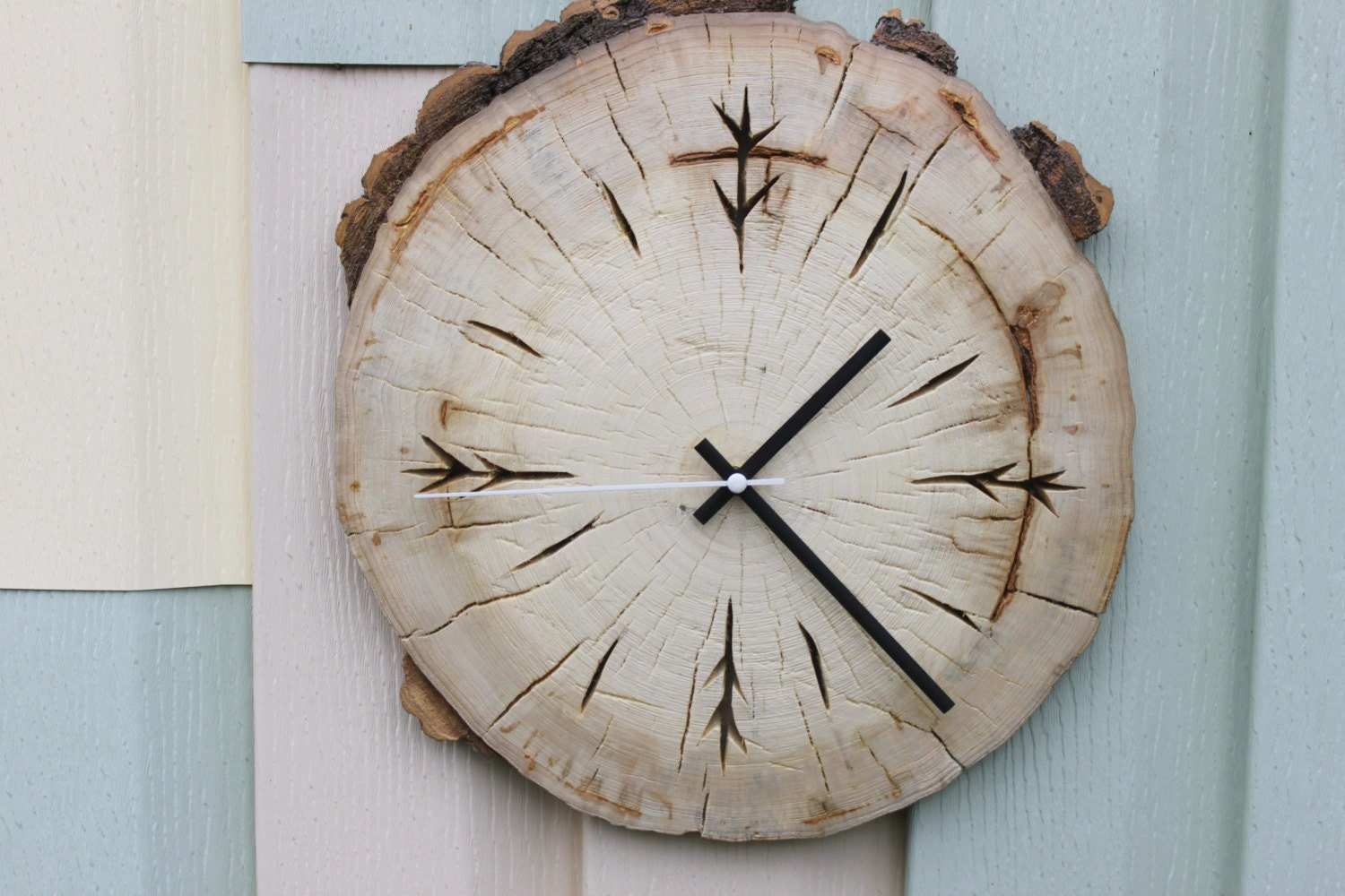 handmade wooden clocks wood slice clock handmade clock wooden clock rustic clock 7781