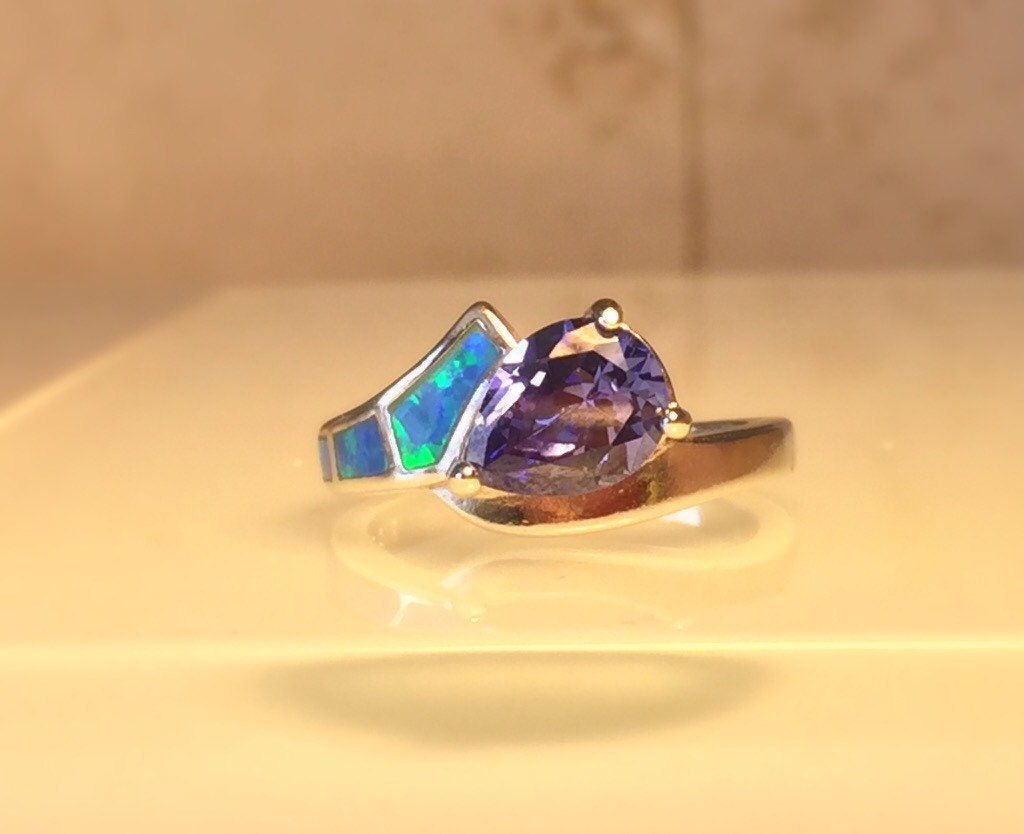 sale tanzanite ring handmade gemstone ring handmade lab