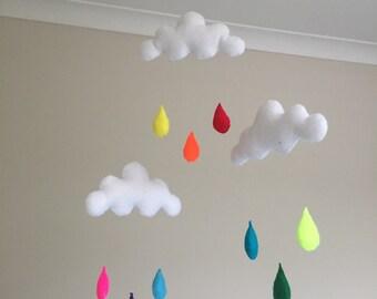 Rainbow Raindrop Mobile