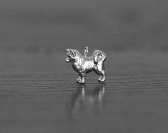 Sterling Silver Alaskan Malamute Charm