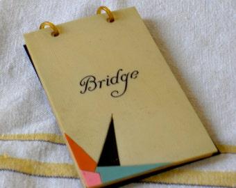 celuloid cover bridge score pad