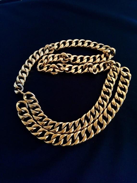 Chanel belt , Chanel chain necklace, Authentic Chanel chain belt, two Layer chain necklace,  Chanel Women belt,  Chanel statement belt