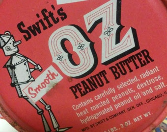 Swift Peanut Butter can Wizard of Oz 2 pound