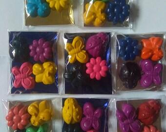 8x Garden Bugs Crayon Set