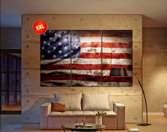 United states Flag  canvas United states Flag wall decoration United states Flag canvas art United states Flag large canvas