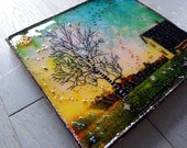 Mixed Media Art on Wood W...