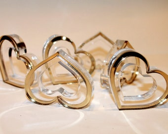 gold wedding napkin rings heart napkin ring holders valentines day gift dinner holders valentine centerpiece table - Wedding Napkin Rings