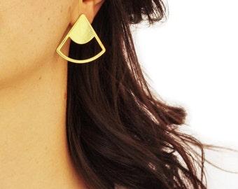 Earrings ECHEVERIA - Chart - vegetation - jewelry - rings - brass - gold - gold plated